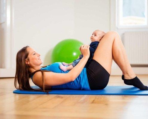Beckenbodengymnastik nach der Schwangerschaft, Rückbildungsgymnastik bei Kinemedic - Praxis für physikalische und rehabilitative Medizin