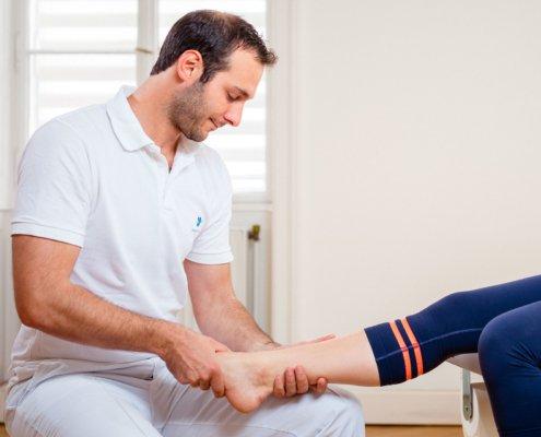 Diagnostik bei akuten Verletzungen bei Kinemedic, Praxis für physikalische, orthopädische und rehabilitative Medizin.